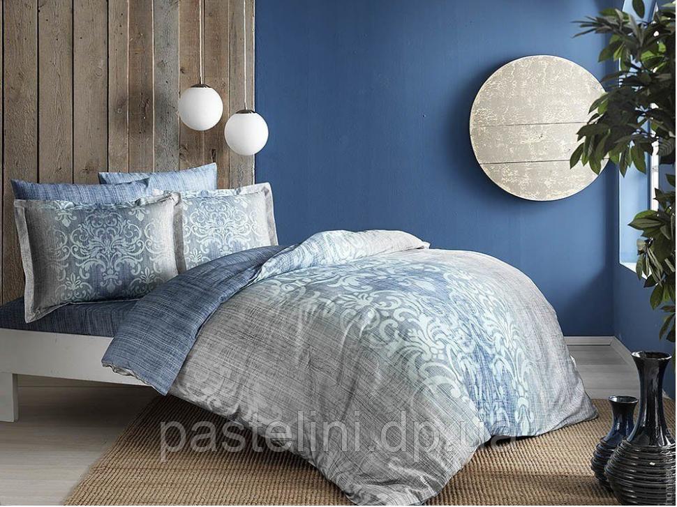 ТАС Digital евро комплект постельного белья сатин Leora mavi