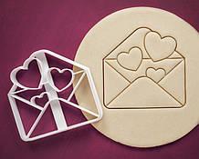 3Д Формочка ко Дню Влюбленных Конверт с сердцами | Вырубка на день святого Валентина | Вырубка для пряников