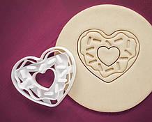 3Д Формочка ко Дню Влюбленных Сердце-пончик | Вырубка на день святого Валентина | Вырубка для пряников