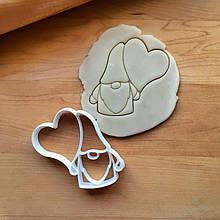 3Д Формочка ко Дню Влюбленных Гном с сердцем | Вырубка на день святого Валентина | Вырубка для пряников