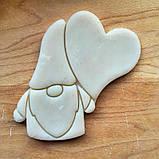 3Д Формочка ко Дню Влюбленных Гном с сердцем | Вырубка на день святого Валентина | Вырубка для пряников, фото 2