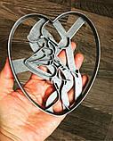 3Д Формочка ко Дню Влюбленных Целующаяся пара | Вырубка на день святого Валентина | Вырубка для пряников, фото 3