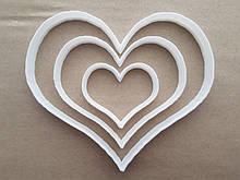 3Д Формочка ко Дню Влюбленных Набор сердце 3 размер | Вырубка на день святого Валентина | Вырубка для пряников