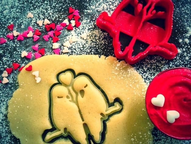 3Д Формочка до Дня Закоханих Закохані папуги | Вирубка на день святого Валентина | Вирубка для пряників