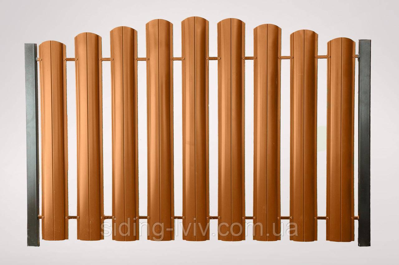 Євроштахета 130 мм одно стороння, двох стороння