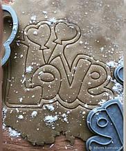 3Д Формочка ко Дню Влюбленных Love с шариками | Вырубка на день святого Валентина | Вырубка для пряников