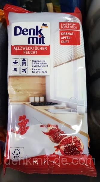 Влажные салфетки для уборки Denkmit (Гранат) 50 шт