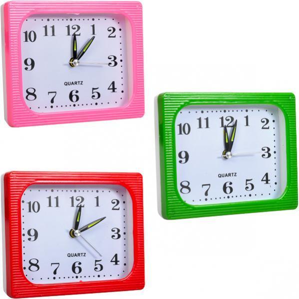 Настільний годинник - будильник 12×10×4 см