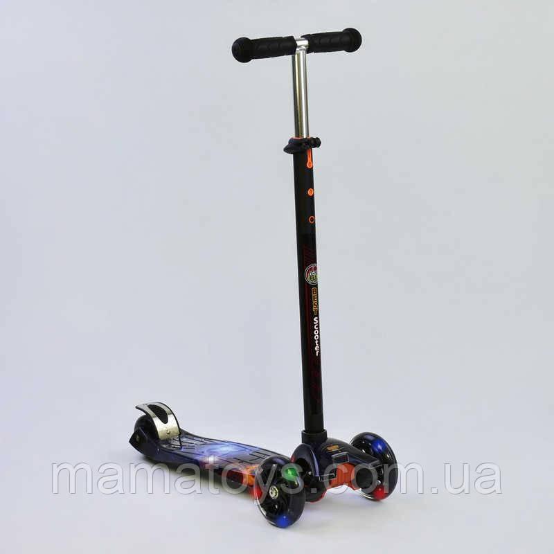 Детский трехколесный Самокат А 24662 /779-1311 Best Scooter Макси Колеса PU, светятся