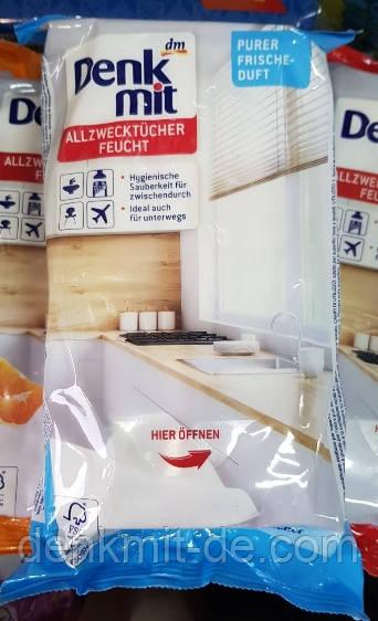 Влажные салфетки для уборки Denkmit Feuchte Allzwecktücher Pure Frische, 50 шт