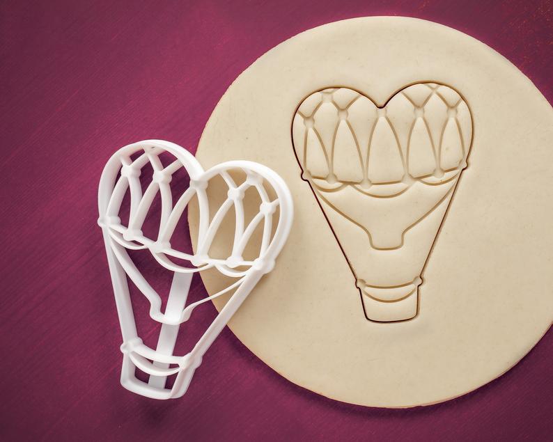 3Д Формочка ко Дню Влюбленных Монгольфьер сердцем | Вырубка на день святого Валентина | Вырубка для пряников