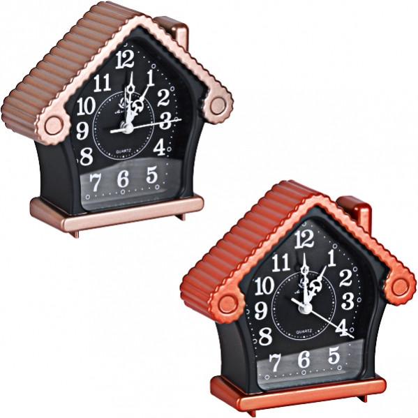 Настільний годинник - будильник «Будиночок» 13,5×13×4,5 см