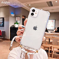 Тренд! Чехол со шнурком для iPhone 6/6S/7/7+/8/8+/X/XS/XR/XS Max/11/11Pro/11 ProMax/12 mini/12/12Pro/12 ProMax
