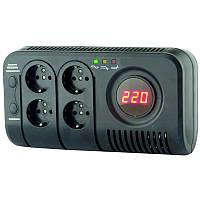 Стабілізатор напруги НСТ-1000  електронний 4 розетки 1,0 кВА  ElectrO HCT10EL4