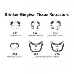 Brinker Clamps B2 кламп бринкер для разрушенных зубов Hygenic
