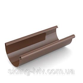 Желоб пластиковая водосточная Бриза Коричневая Bryza 125 мм водосточной системы