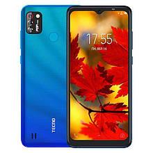 """Смартфон Tecno POP 4 Pro 1/16Gb с большим экраном 6,52"""" и мощной батареей 5000 мАч голубой"""