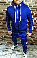 Мужской тёмно-синий спортивный костюм на микрофлисе синий
