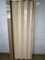 Двері міжкімнатні гармошка глуха, сосна 7012, 810х2030х6мм