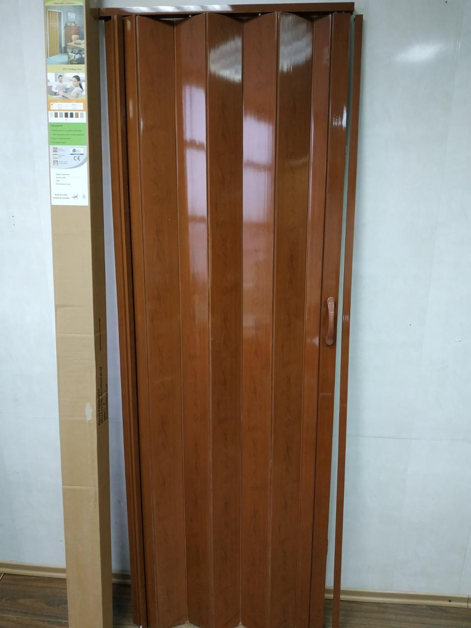 Дверь гармошка межкомнатная глухая, Черешня 7, 810х2030х6мм