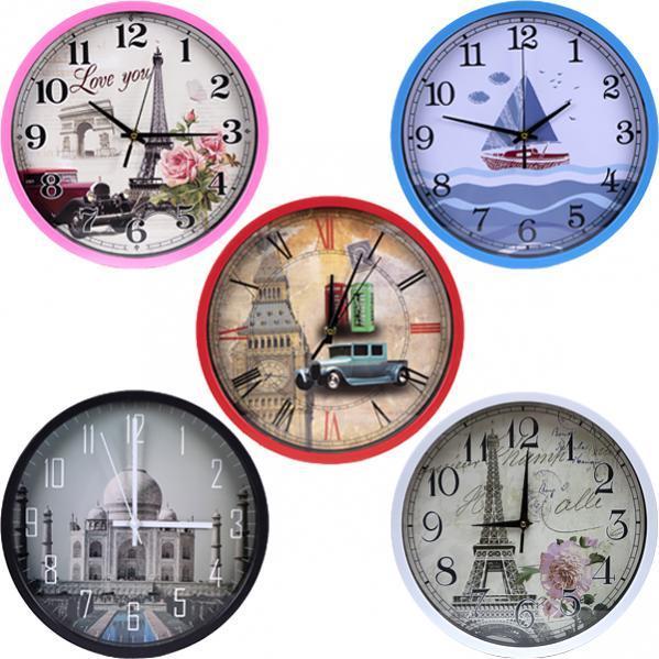 Настінний годинник «Ейфелева вежа» 29,5×4 см