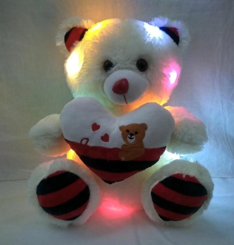 Мягкая игрушка светящийся мишка
