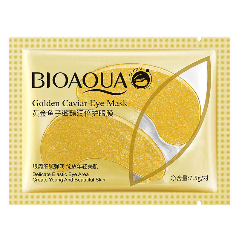 Увлажняющие и разглаживающие патчи под глаза c золотом и икрой Bioaqua Golden Caviar Eye Mask, 7.5г