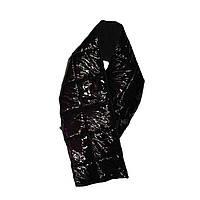 Пуховой лаковый обьемный яркий большой теплый красивый легкий однотонный зимний шарф (осенний) KapetaniosParis