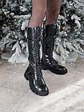 Женские ботинки Balenciaga Tractor в стиле баленсиага Трактор Черные (Реплика ААА+), фото 6