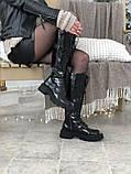 Женские ботинки Balenciaga Tractor в стиле баленсиага Трактор Черные (Реплика ААА+), фото 4