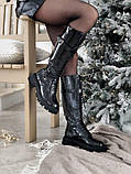 Женские ботинки Balenciaga Tractor в стиле баленсиага Трактор Черные (Реплика ААА+), фото 5