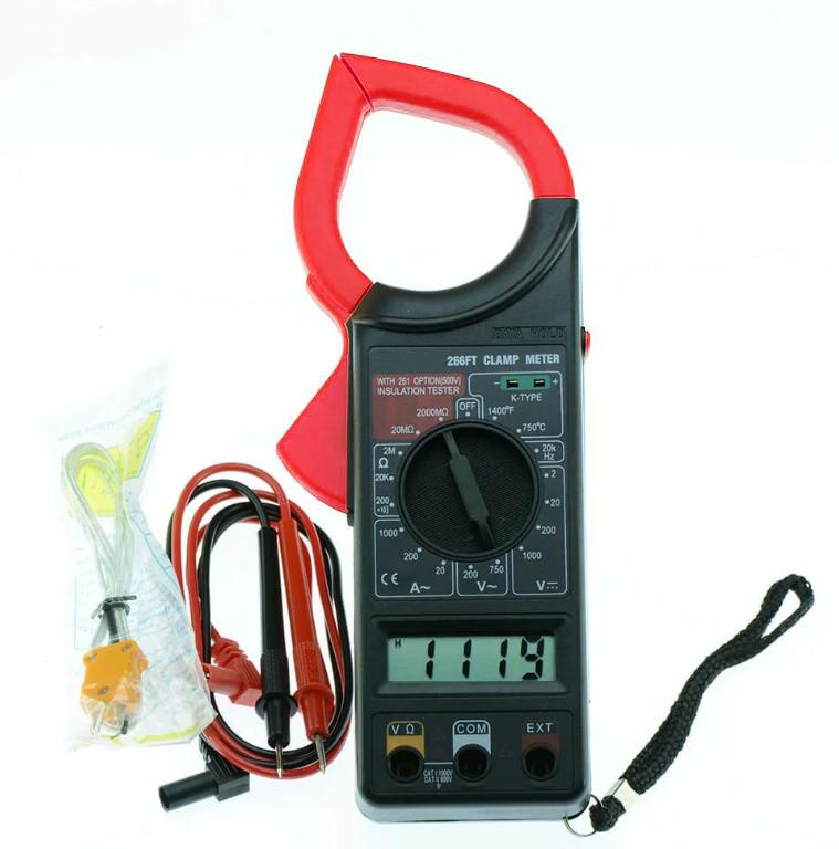 Токовые клещи (мультиметр, тестер) Digital Tech DT-266FT (1011)
