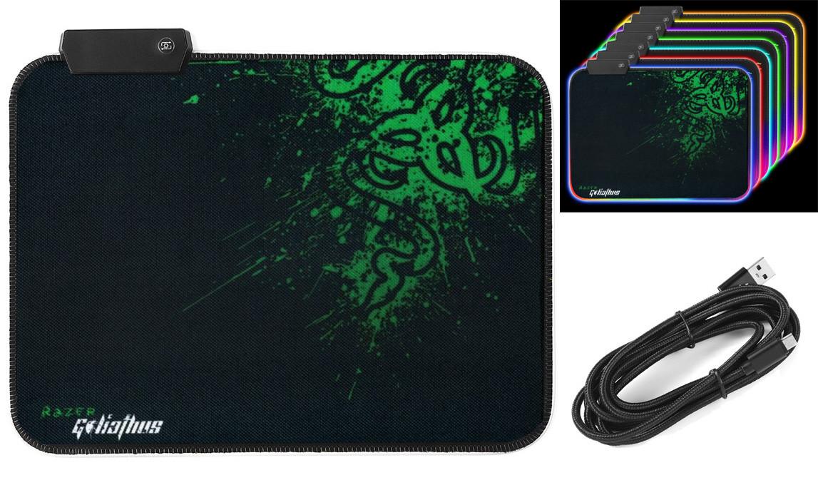 Игровая поверхность (коврик для мыши) Razer Goliathus R-350 с подветкой RGB (350x250x3мм) (90546)