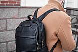 Рюкзак шкіряний BAREL портфель з якісної екошкіра, фото 3