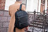 Рюкзак шкіряний BAREL портфель з якісної екошкіра, фото 2