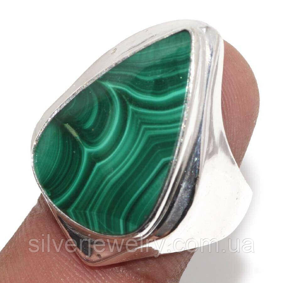 Кольцо с МАЛАХИТОМ (натуральный). Размер 18,5