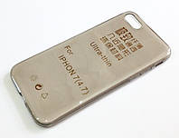 Чехол для iPhone 7 силиконовый ультратонкий прозрачный серый