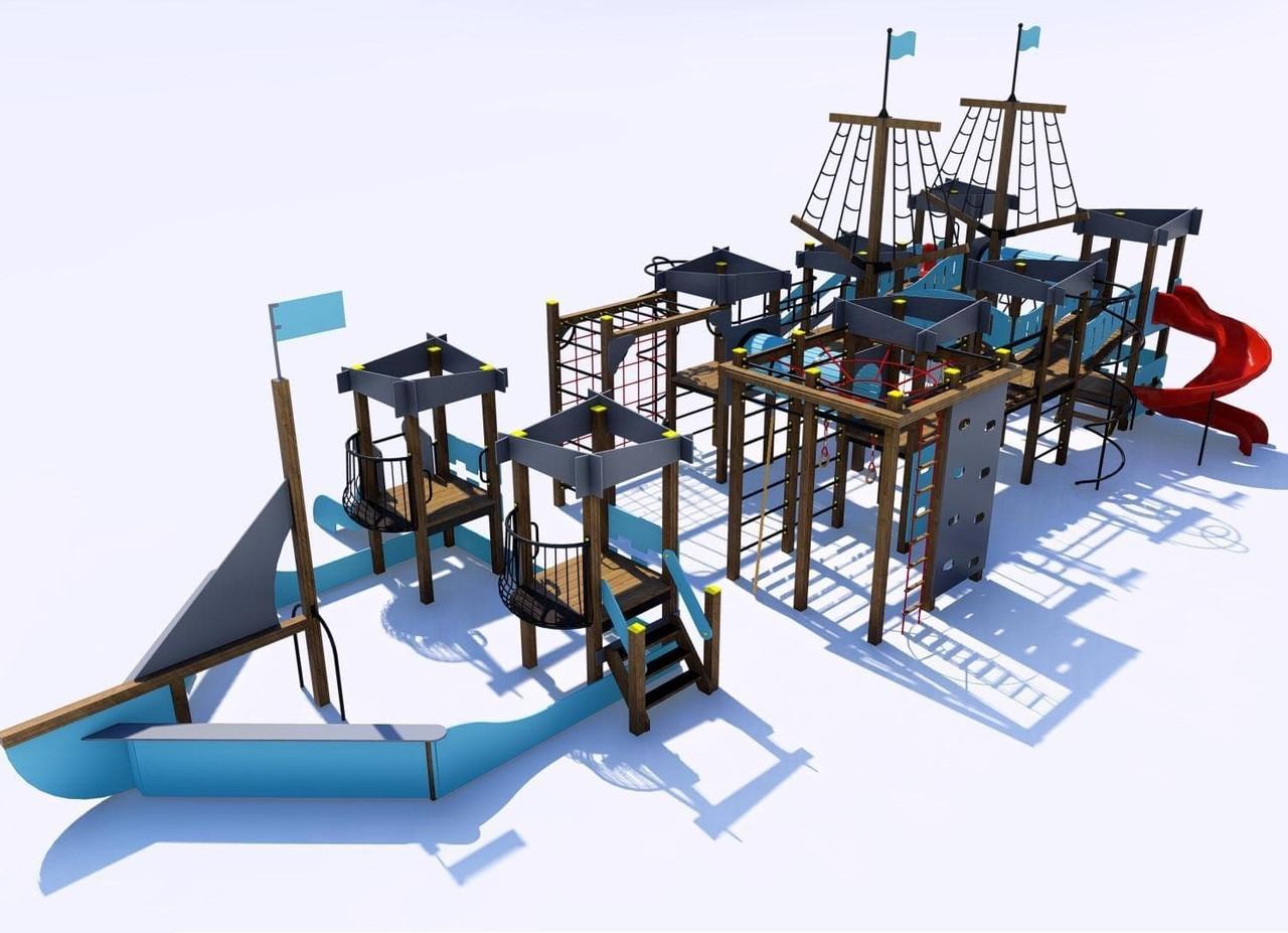Детский игровой «Мега» комплекс «Корсар» IК-7.08