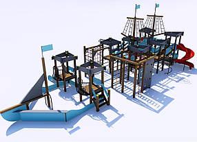 Дитячий ігровий «Мега» комплекс «Корсар» ІК-7.08