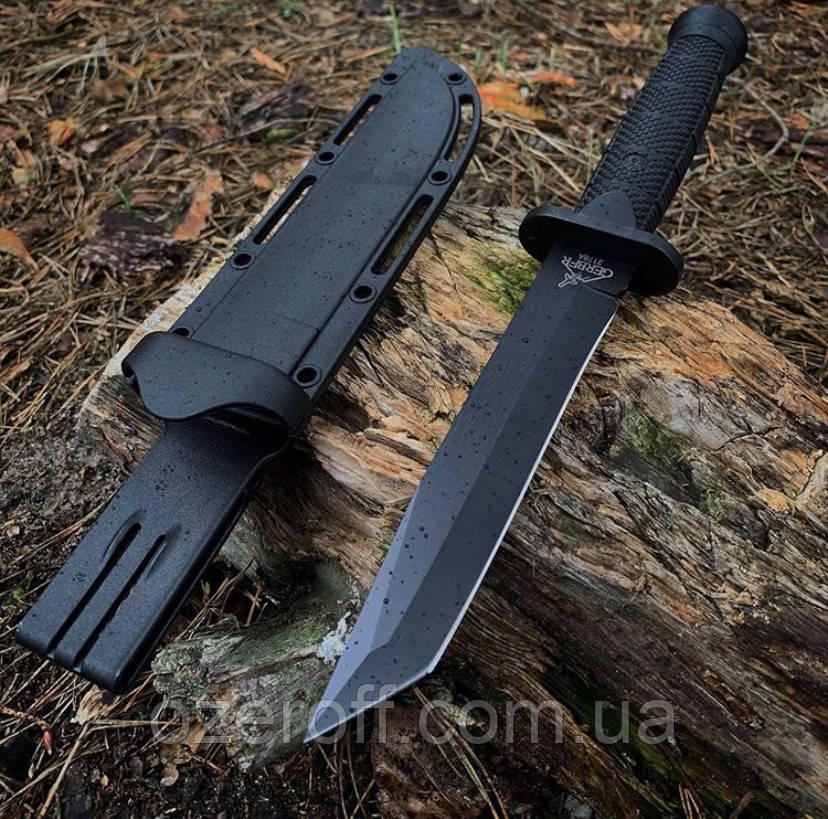 Мисливський ніж Танто чорний, з чохлом. Танто в піхвах