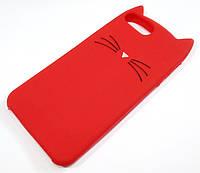 Чехол детский для iPhone 8 Plus силиконовый объемный игрушка усики красный