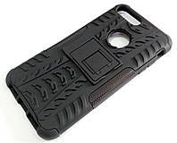 Чехол бампер противоударный бронированный TOTO Dazzle kickstand для iPhone X черный