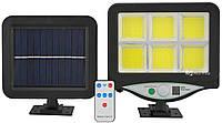 Светильник уличный на солнечной батарее с датчиком движения UKC BK-128-6COB (7499), фото 1