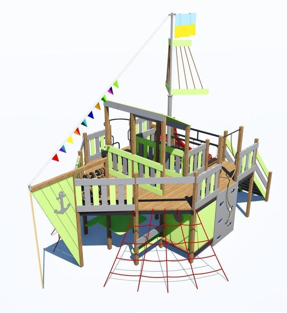 Детский игровой комплекс ПЛАСТ-8 IК-6.80
