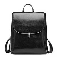 Женский стильный рюкзак черный из натуральной кожи, фото 1