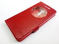 Чехол книжка с окошком momax для Asus Zenfone 3 ZE520KL красный