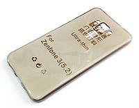 Чехол для Asus Zenfone 3 ZE520KL силиконовый ультратонкий прозрачный серый