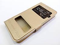 Чехол книжка с окошками momax для Asus Zenfone C ZC451CG золотой
