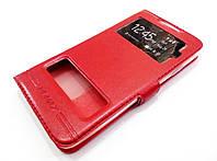 Чехол книжка с окошками momax для HTC Desire 516 dual sim красный