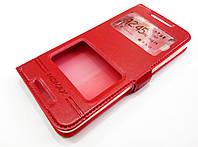 Чехол книжка с окошками momax для HTC Desire 628 / 628 dual sim красный